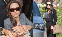 Angelina Jolie không còn đeo nhẫn cưới, hốc hác khi xuất hiện trên phố