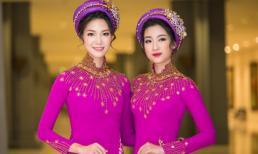 Hoa hậu Thùy Dung tái xuất thon gọn hội ngộ đàn em Mỹ Linh
