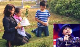 Vợ Trần Lập cùng các con về thăm nơi chồng yên nghỉ