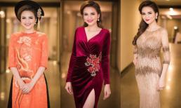 Hoa hậu Diễm Hương rực rỡ đầy cuốn hút khi làm MC