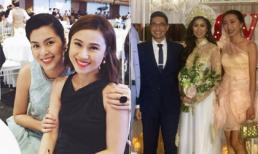 Tăng Thanh Hà xuất hiện xinh đẹp trong đám cưới của chị chồng tại TP.HCM