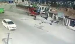 Xe tải mất phanh, san bằng 3 ngôi nhà, khiến 5 người thiệt mạng trong chớp mắt