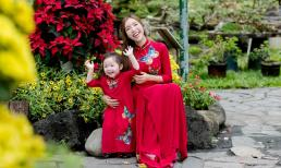 """Cadie Mộc Trà tươi tắn """"làm duyên"""" trong bộ ảnh đón Tết cùng mẹ Elly Trần"""