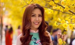 Nguyễn Loan rạng rỡ, xinh đẹp khi diện áo dài đón Tết