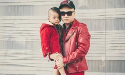 Con trai Đỗ Mạnh Cường sành điệu dạo phố cùng bố