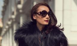 Người mẫu Lê Thúy sang trọng khi diện đầm đen dạo phố