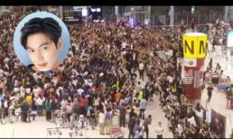 Choáng váng với biển người bâu kín Lee Min Ho tại sân bay Thái Lan