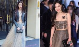 """Lưu Diệc Phi """"đụng hàng"""" Sulli (f(x)) khi tham dự Tuần lễ thời trang 2017 của Dior"""