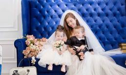 Elly Trần bất ngờ tung ảnh chụp váy cưới cùng hai con nhân ngày 8/3