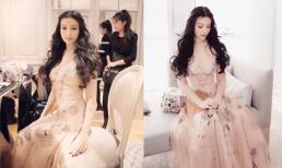 Huyền Baby xinh như công chúa khi dự tiệc ở Hồng Kông
