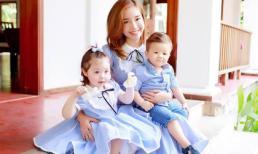 Elly Trần cười rạng rỡ bên hai con xinh xắn như thiên thần
