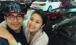 Sinh con trai hơn 1 tháng, Ngọc Lan được chồng đưa đi sắm xế sang tại Mỹ