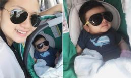 Ngắm rõ mặt con trai của diễn viên Ngọc Lan và Thanh Bình