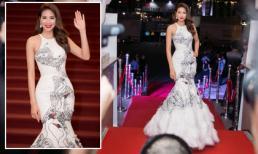 Hoa hậu Phạm Hương diện lại đầm 'thiên nga trắng' khiến thảm đỏ náo loạn