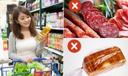 Những thực phẩm không nên mua trong siêu thị vì có thể ảnh hưởng xấu đến sức khỏe