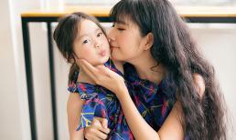 Vợ và con gái Lý Hải đáng yêu với đầm đôi họa tiết