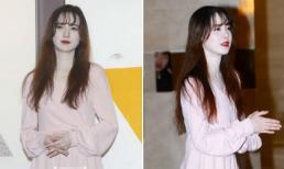 """""""Nàng Cỏ"""" Goo Hye Sun mặt trắng bệch, mệt mỏi xuất hiện sau thời gian dưỡng bệnh"""
