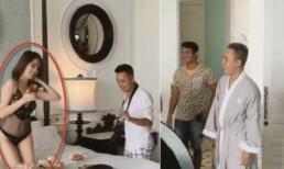 Phản ứng của ê-kíp toàn nam khi Ngọc Trinh cởi đồ chụp nội y ở Phú Quốc