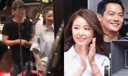 Hoắc Kiến Hoa đến tận phim trường xem vợ Lâm Tâm Như đóng cặp cùng chồng Châu Tấn