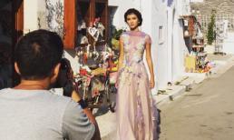 Hậu trường chụp ảnh Kim Tuyến tại khung cảnh trời Tây đẹp như mơ