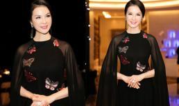MC Thanh Mai khoe vẻ đài các với áo dài cách tân