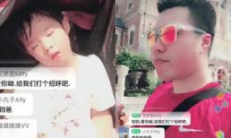Chồng cũ 'Tiểu Yến Tử' mải livestream bỏ mặc con gái bơ phờ giữa trời nắng