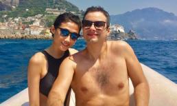 Kha Mỹ Vân hạnh phúc đi ngắm biển cùng chồng Tây