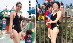 Lâu lắm rồi mới thấy Hoa hậu Diễm Hương mặc áo tắm khoe dáng