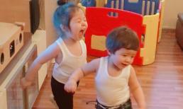 Cadie và Túc Mạch mặc đồ đôi, vui vẻ chơi đùa cùng nhau
