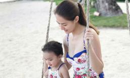 'Mỹ nhân đẹp nhất Philippines' và con gái diện bikini đôi nổi bật trên biển