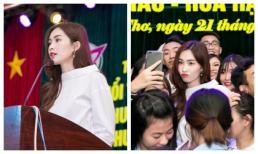 Mặc đồ giản dị nhưng Hoa hậu Thu Thảo vẫn khiến đàn em xao xuyến khi về trường