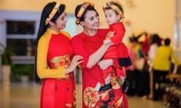 Hồng Quế lần đầu cho con gái diễn thời trang
