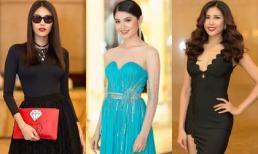 Lan Khuê diện cả 'cây đen' sang chảnh đến chúc mừng Thùy Dung thi Hoa hậu Quốc tế