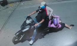 Vợ đi đánh ghen bị chồng và bồ lôi xềnh xệch giữa phố Hà Nội