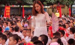 Bức hình cô giáo trẻ đứng quạt cho học sinh 'hot' nhất trong ngày khai giảng ở Hà Nội