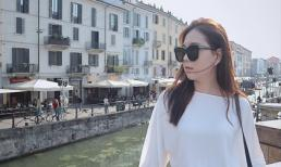 MC Mai Ngọc đáng yêu ở Milan dưới góc máy của chồng