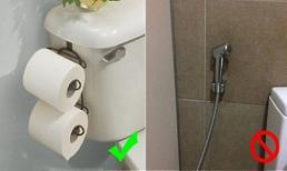 Tại sao bồn cầu ở các nước phương Tây không được trang bị vòi xịt?