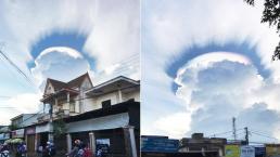 Quầng mây ngũ sắc kỳ bí xuất hiện trên bầu trời Đăk Lăk