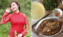 Cô gái khoe mâm cơm chỉ tốn 2.000 đồng với đầy đủ cá, rau gây xôn xao