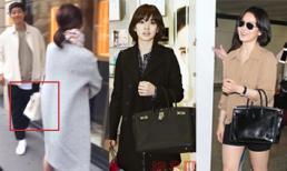 Diện đồ đơn giản nhưng hoá ra Song Hye Kyo lại sở hữu BST túi Hermes tiền tỷ