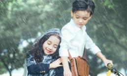 Dân mạng thích thú khi xem bộ ảnh 'Em gái mưa' phiên bản thiên thần nhí