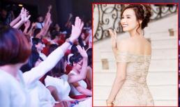 Đẹp như nữ thần, Lã Thanh Huyền bị fans vây kín