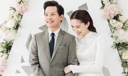 Hoa hậu Đặng Thu Thảo cười rạng rỡ bên ông xã Trung Tín trong ngày ăn hỏi