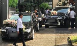 Cận cảnh dàn siêu xe vài chục tỷ đồng trong lễ đón dâu của Hoa hậu Thu Thảo