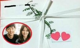 Lộ thiệp cưới giản dị của Song Joong Ki và Song Hye Kyo