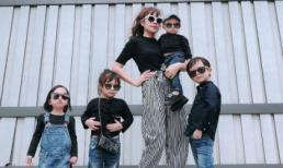4 nhóc tỳ nhà Lý Hải siêu ngầu khi tạo dáng bên mẹ