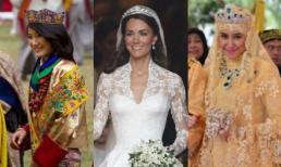 Ngắm những chiếc váy cưới Hoàng gia đẹp mắt và lung linh nhất thế giới