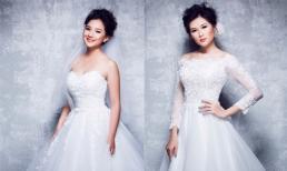 Vợ Duy Nhân và Mạc Anh Thư xinh đẹp khi diện váy cưới