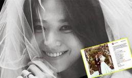 Song Hye Kyo lần đầu lên tiếng sau siêu đám cưới với Song Joong Ki