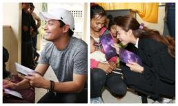 Phạm Hương, MC Phan Anh giúp đỡ và trao quà cho các gia đình gặp nạn trong bão số 12